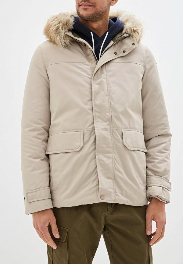 мужская куртка geox, бежевая