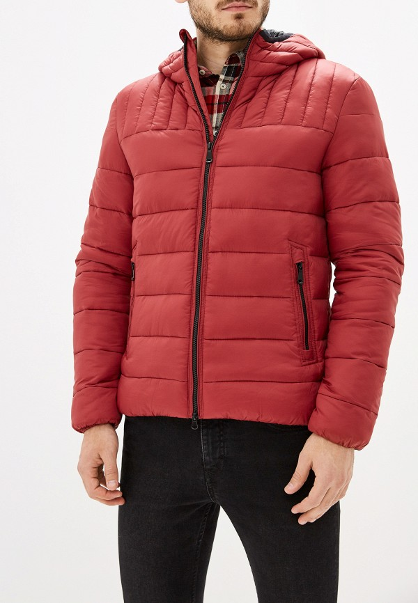 мужская куртка geox, бордовая