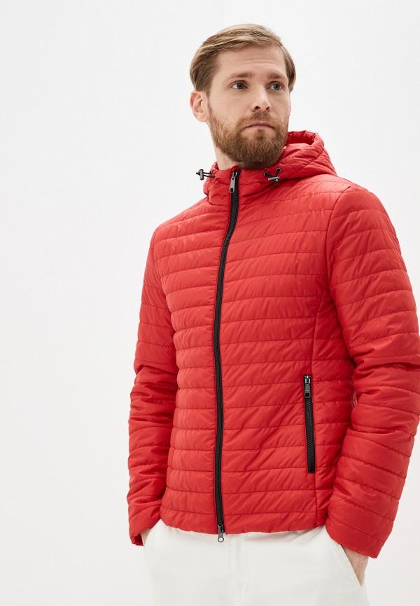 мужская куртка geox, красная