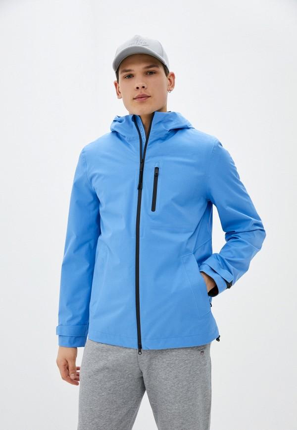 мужская ветровка geox, голубая