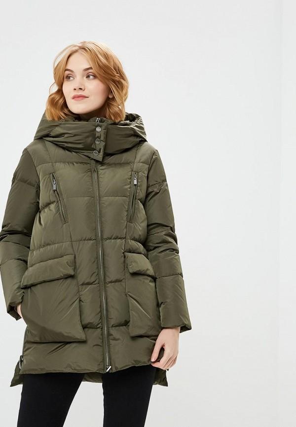 Купить Пуховик Geox, GE347EWBZKS2, хаки, Осень-зима 2018/2019