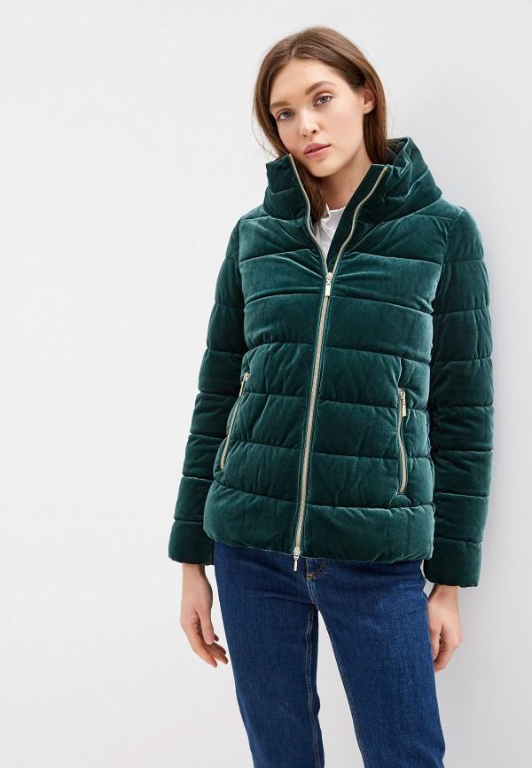 женская куртка geox, зеленая