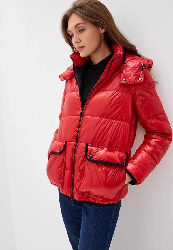 женская куртка geox, красная