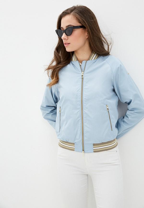 женская куртка geox, голубая