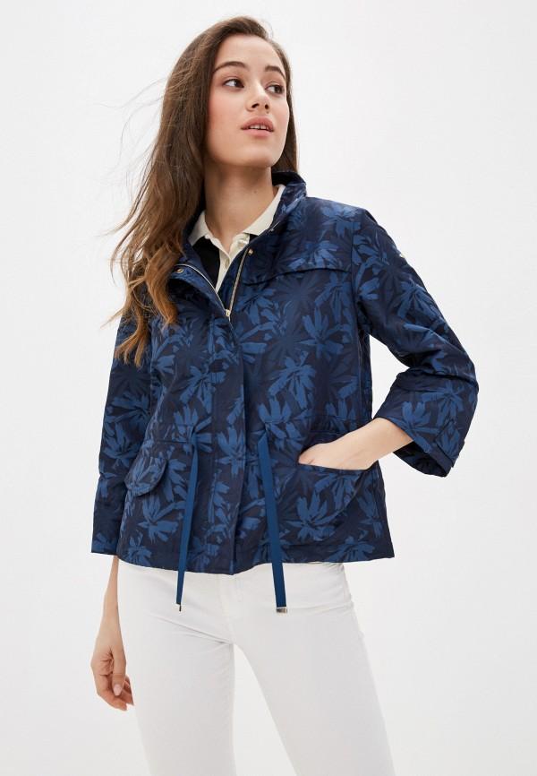 женская куртка geox, синяя