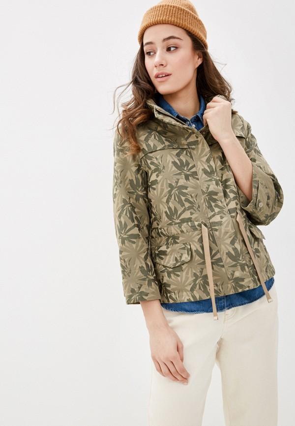 женская куртка geox, хаки