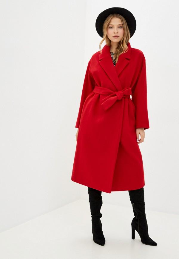 женское пальто geox, красное