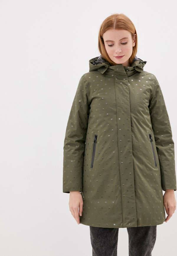 женская утепленные куртка geox, хаки