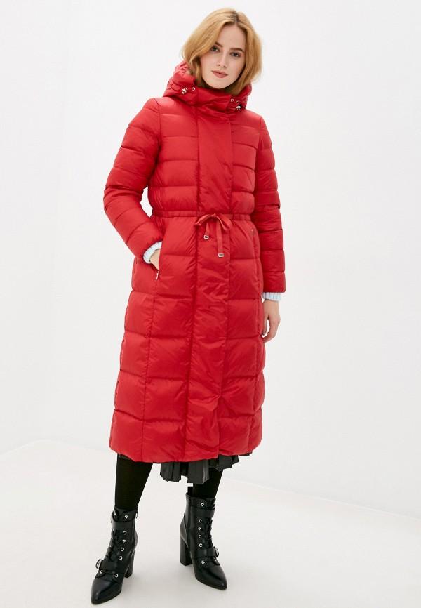 женский пуховик geox, красный