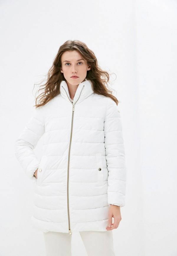 женская утепленные куртка geox, белая