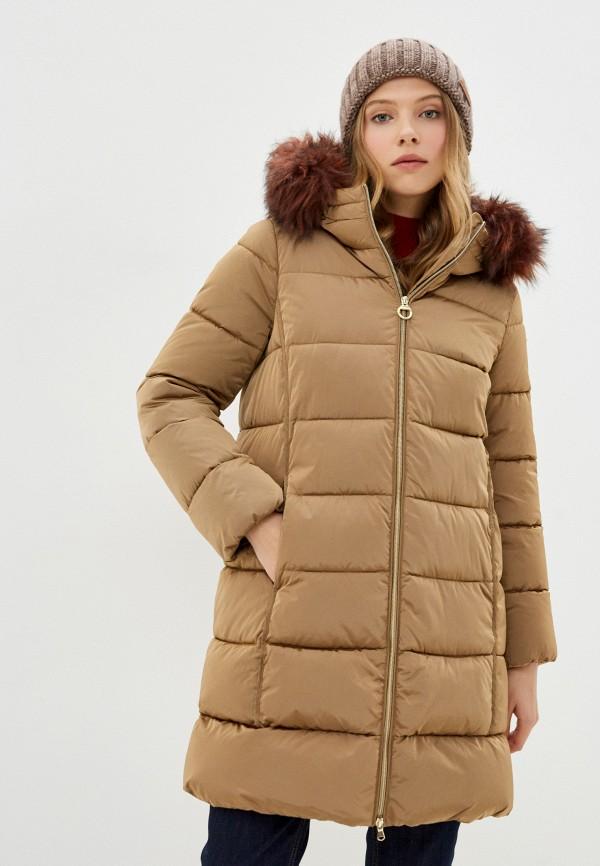 женская утепленные куртка geox, бежевая
