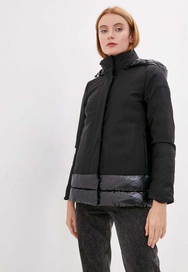 женская куртка geox, черная