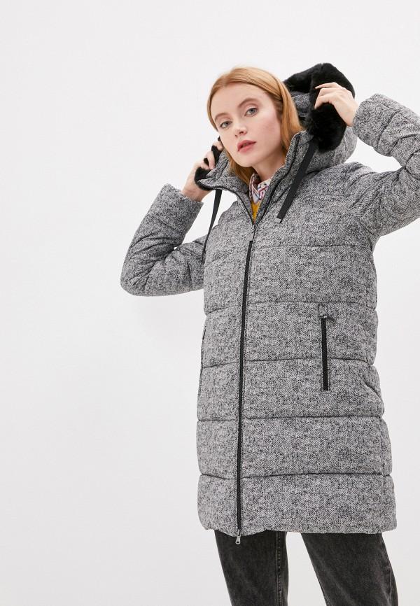 женская утепленные куртка geox, серая
