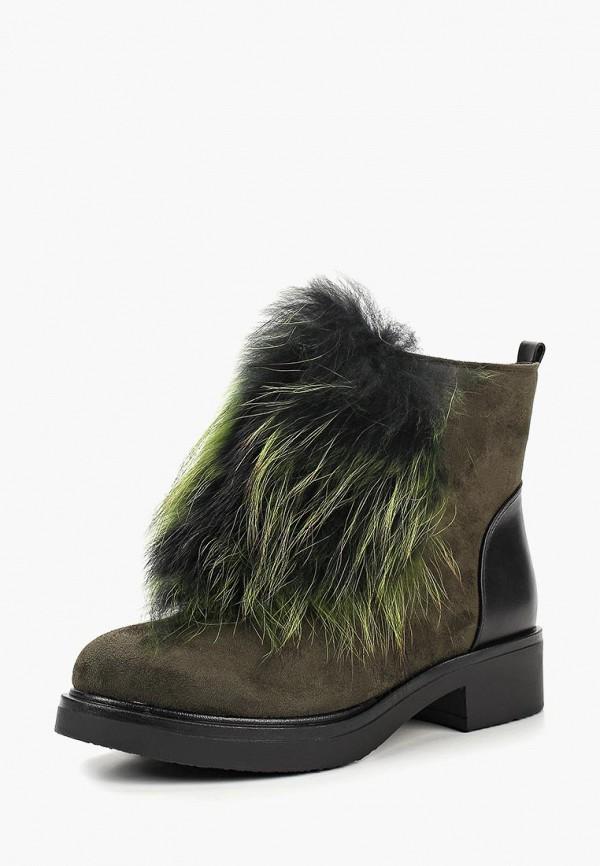 женские ботинки gene, зеленые