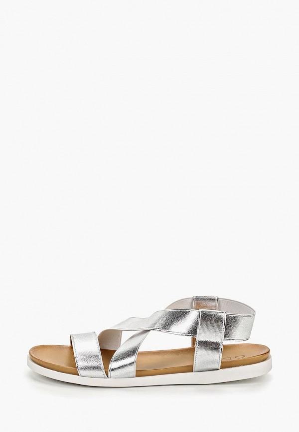 женские сандалии gene, серебряные