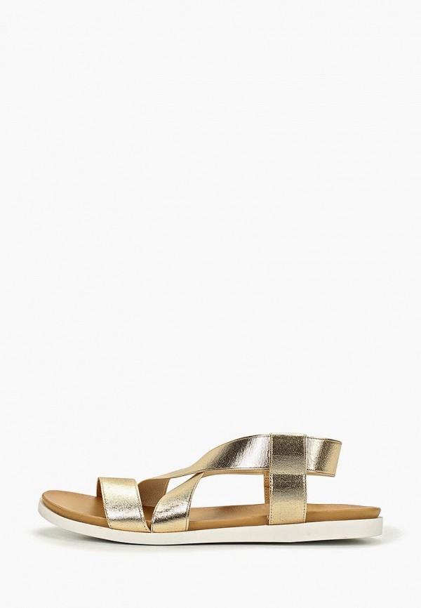 женские сандалии gene, золотые