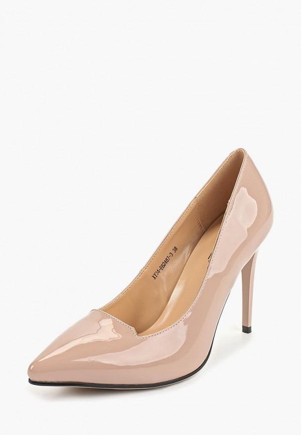 Фото 2 - женские туфли Gene бежевого цвета