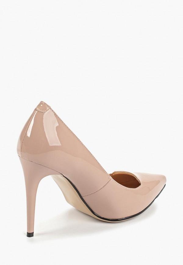 Фото 3 - женские туфли Gene бежевого цвета