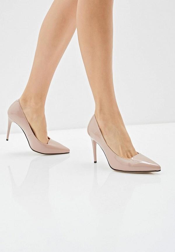 Фото 6 - женские туфли Gene бежевого цвета