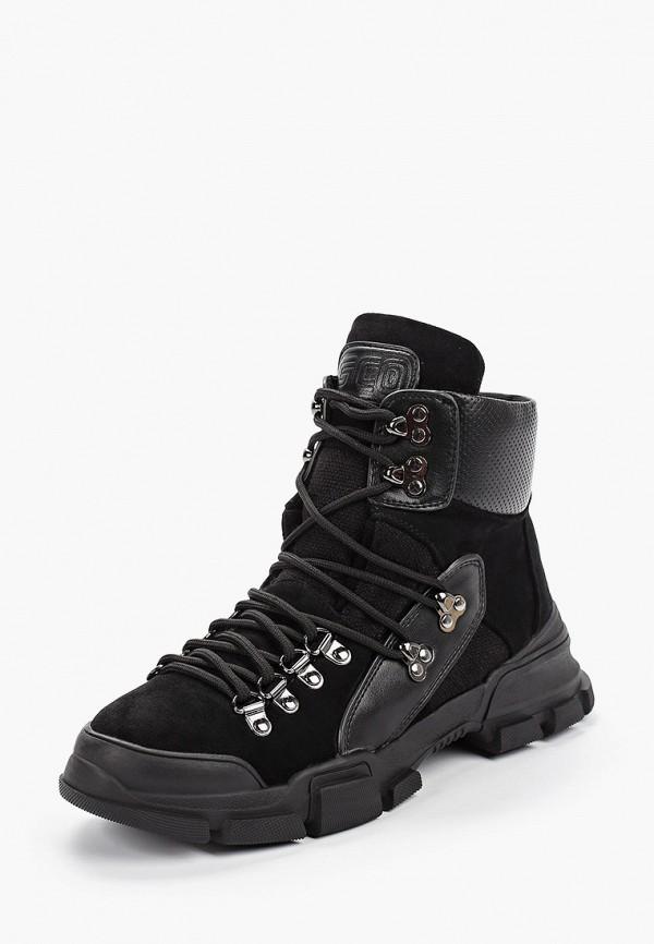 Фото 2 - женские ботинки и полуботинки Gene черного цвета
