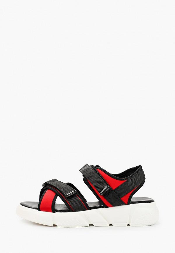 женские сандалии gene, красные