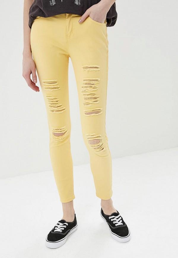 женские зауженные брюки g&g, желтые