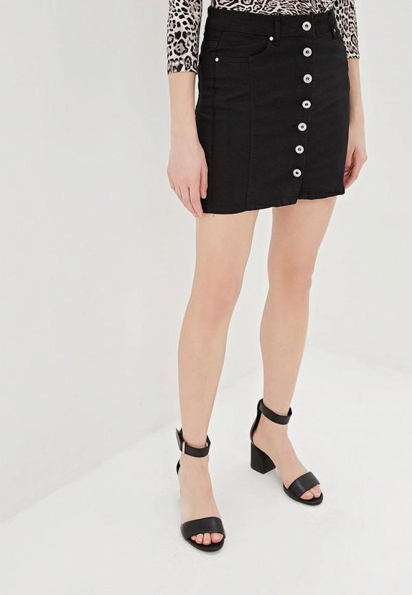 женская джинсовые юбка g&g, черная