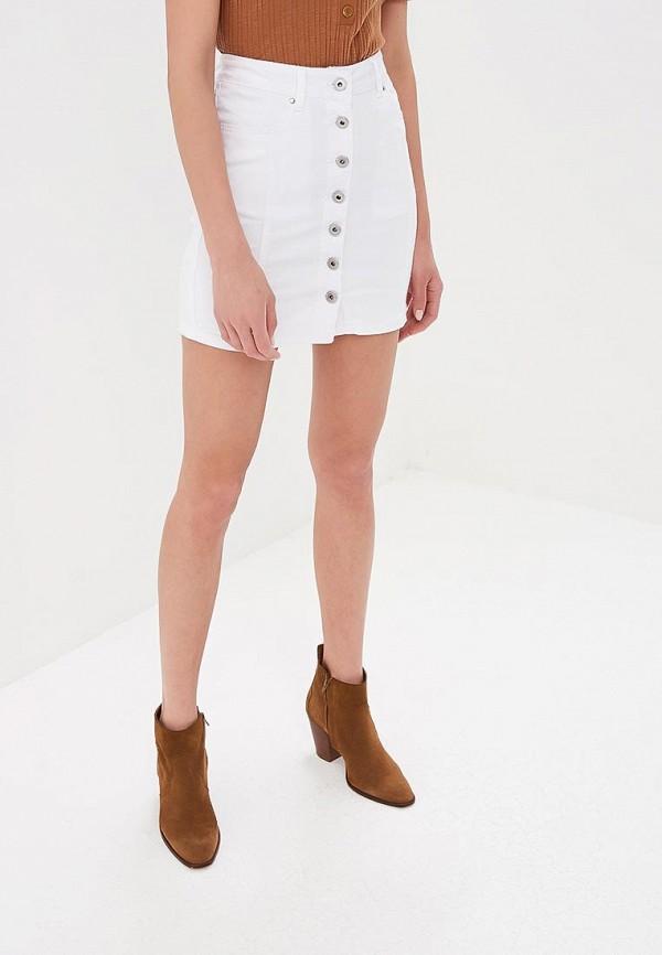 женская джинсовые юбка g&g, белая