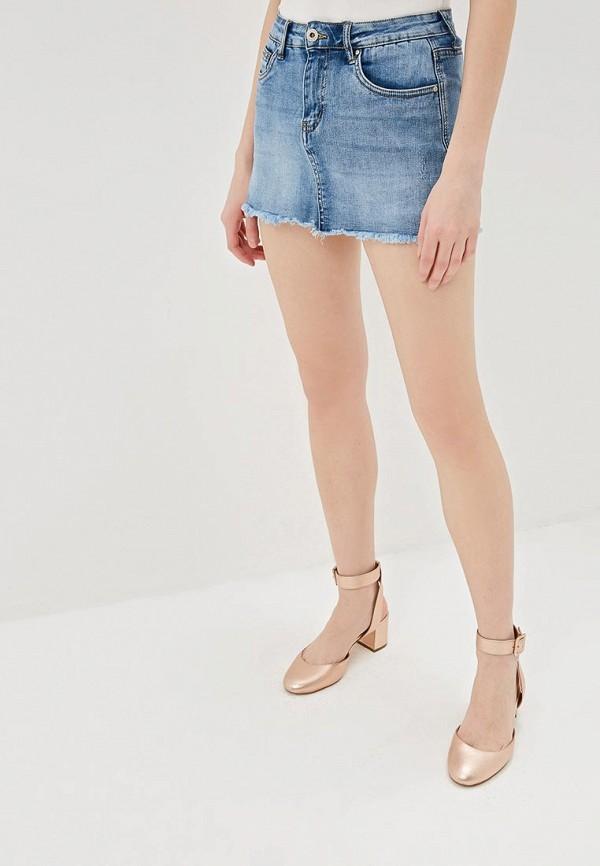женская юбка g&g, голубая