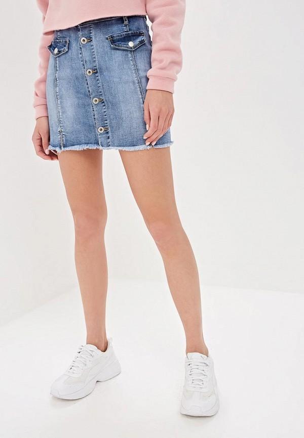женская джинсовые юбка g&g, голубая