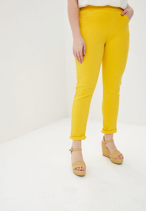 женские повседневные брюки g&g, желтые