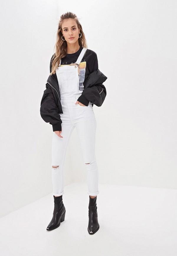 женский джинсовые комбинезон g&g, белый