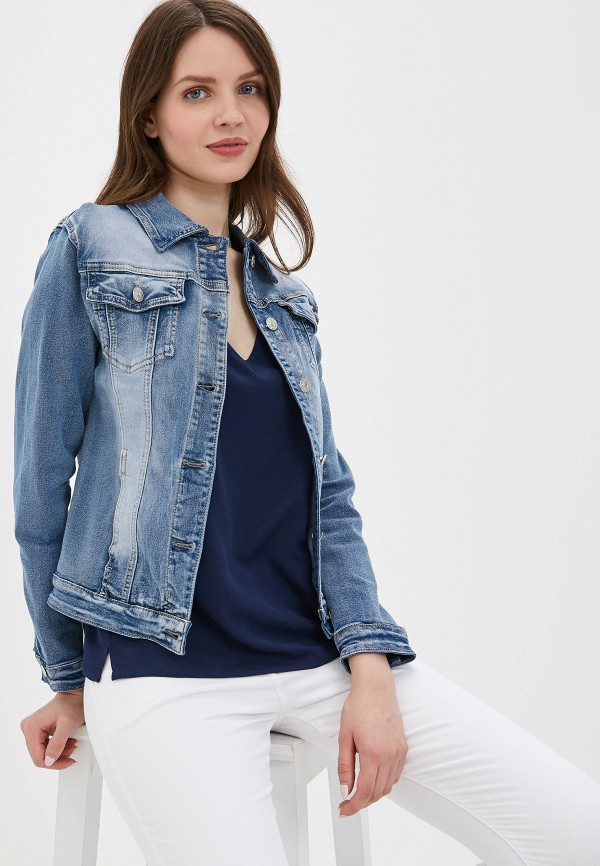 женская джинсовые куртка g&g, голубая