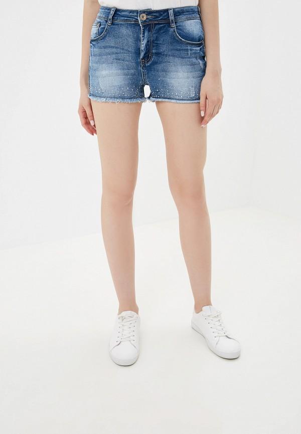 женские шорты g&g, голубые