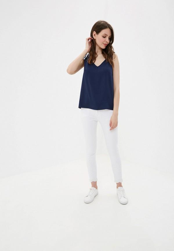 Фото 2 - Джинсы G&G белого цвета