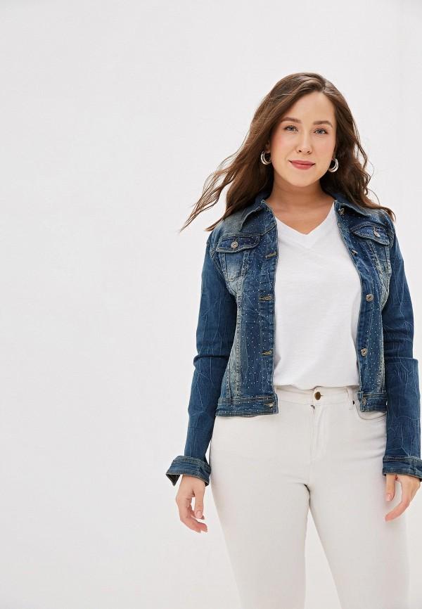 женская джинсовые куртка g&g, синяя