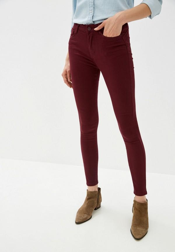 женские джинсы g&g, бордовые