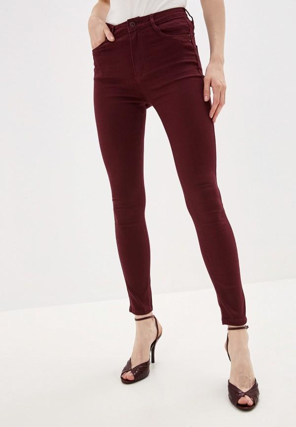 женские брюки g&g, бордовые
