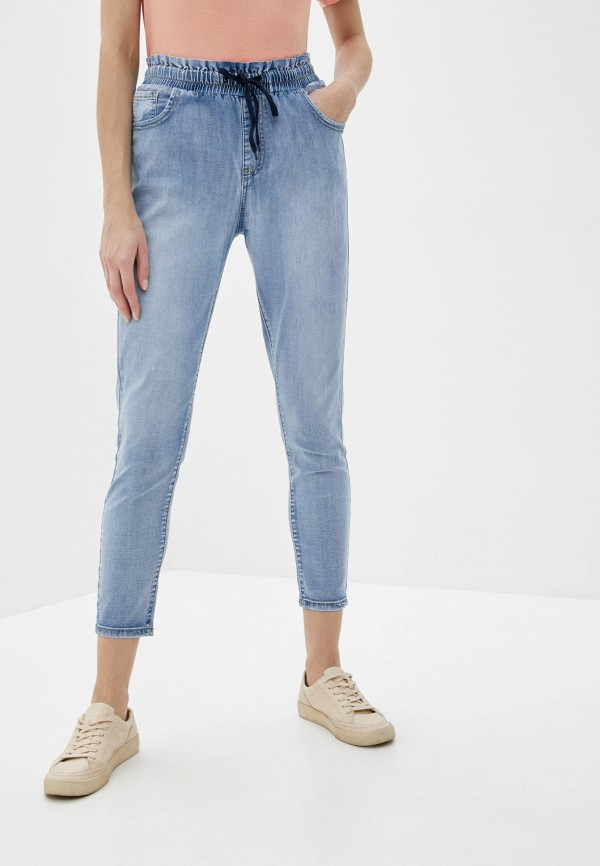 женские джинсы-мом g&g, голубые
