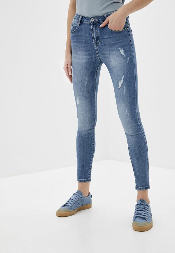 женские джинсы скинни g&g, синие