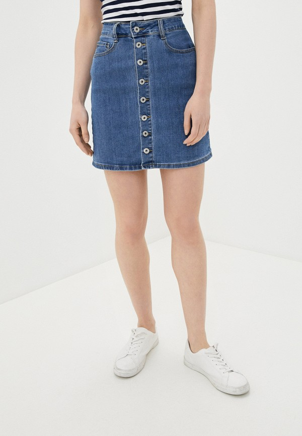 женская джинсовые юбка g&g, синяя
