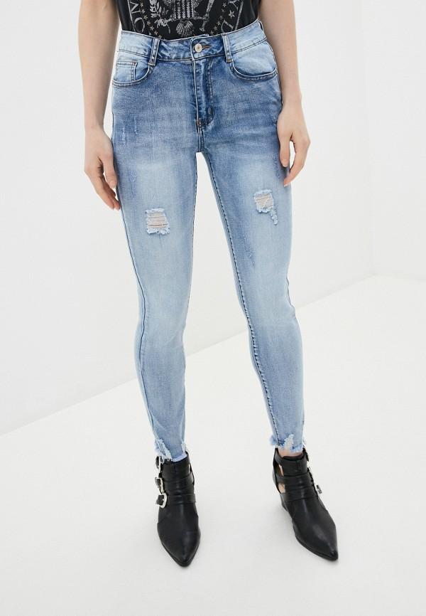 женские джинсы скинни g&g, голубые