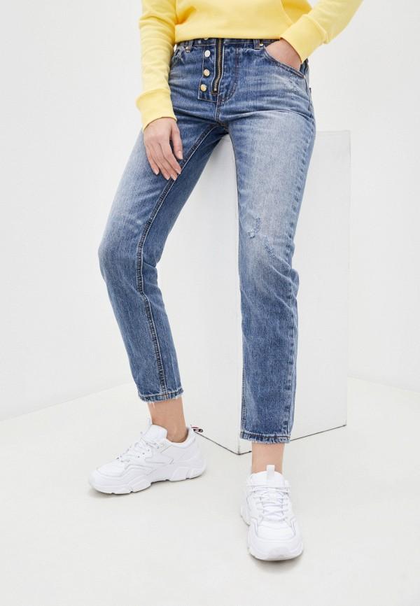женские джинсы бойфренд g&g, голубые