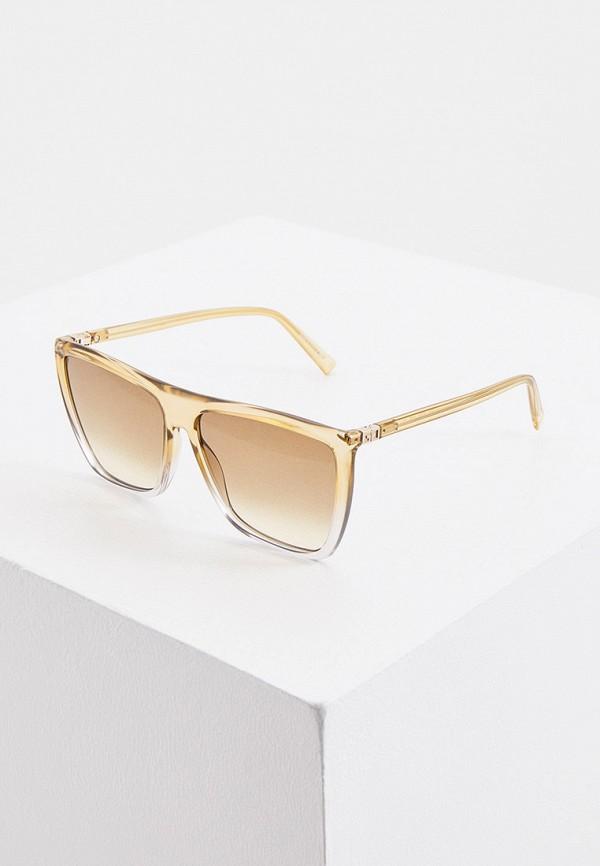 женские квадратные солнцезащитные очки givenchy, бежевые