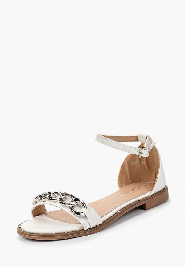 женские сандалии girlhood, белые