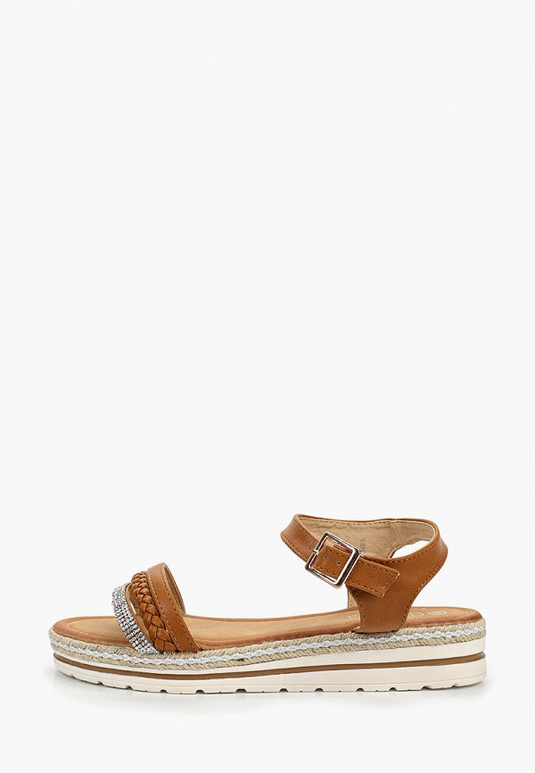 женские сандалии girlhood, коричневые