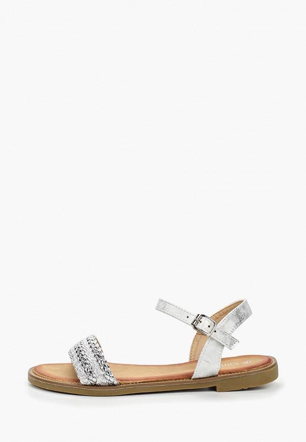 Фото - женские сандали Girlhood серебрянного цвета
