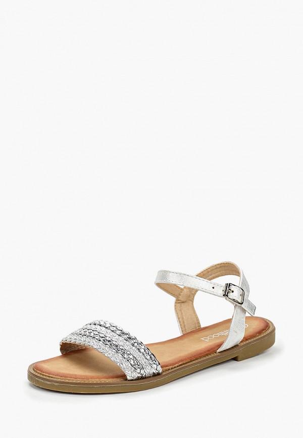 Фото 2 - женские сандали Girlhood серебрянного цвета