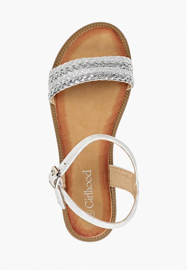 Фото 4 - женские сандали Girlhood серебрянного цвета