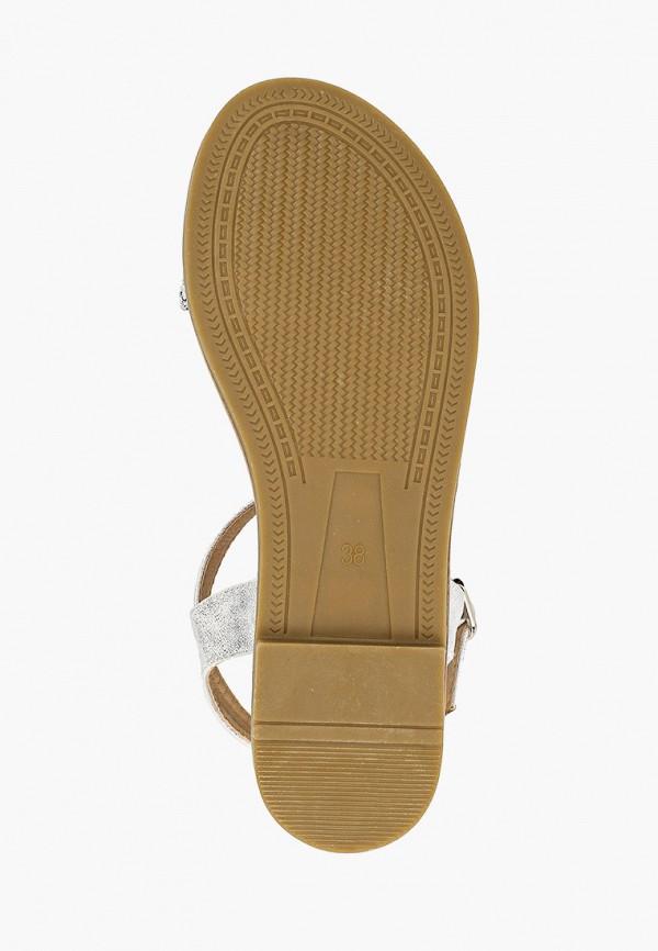 Фото 5 - женские сандали Girlhood серебрянного цвета